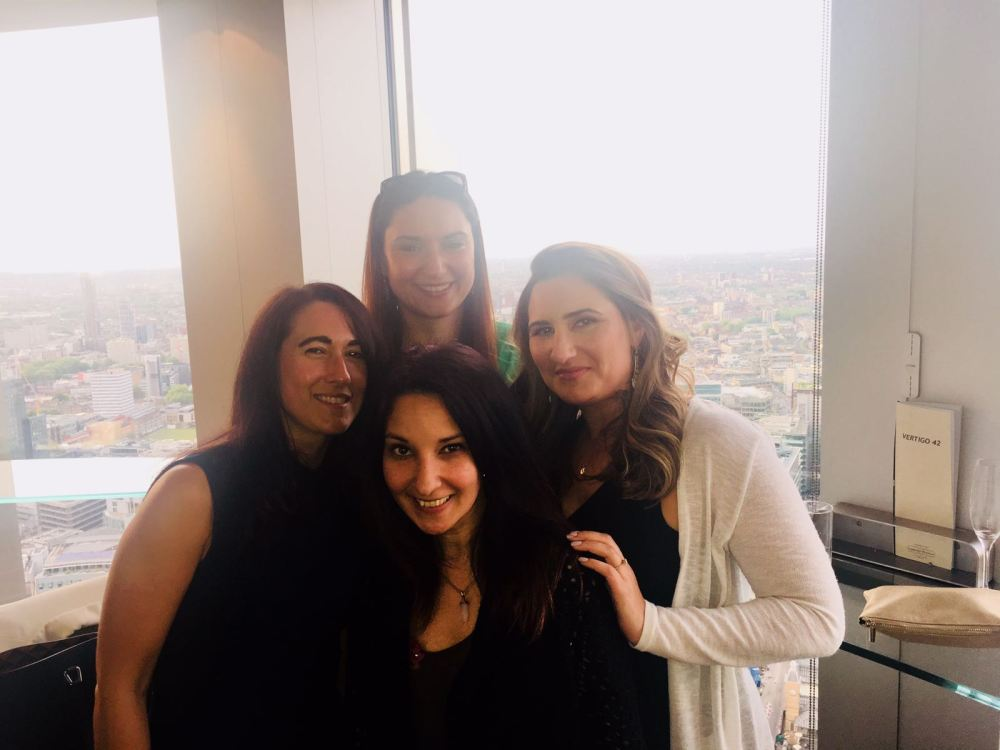 The MBA Ladies and I taking in the views