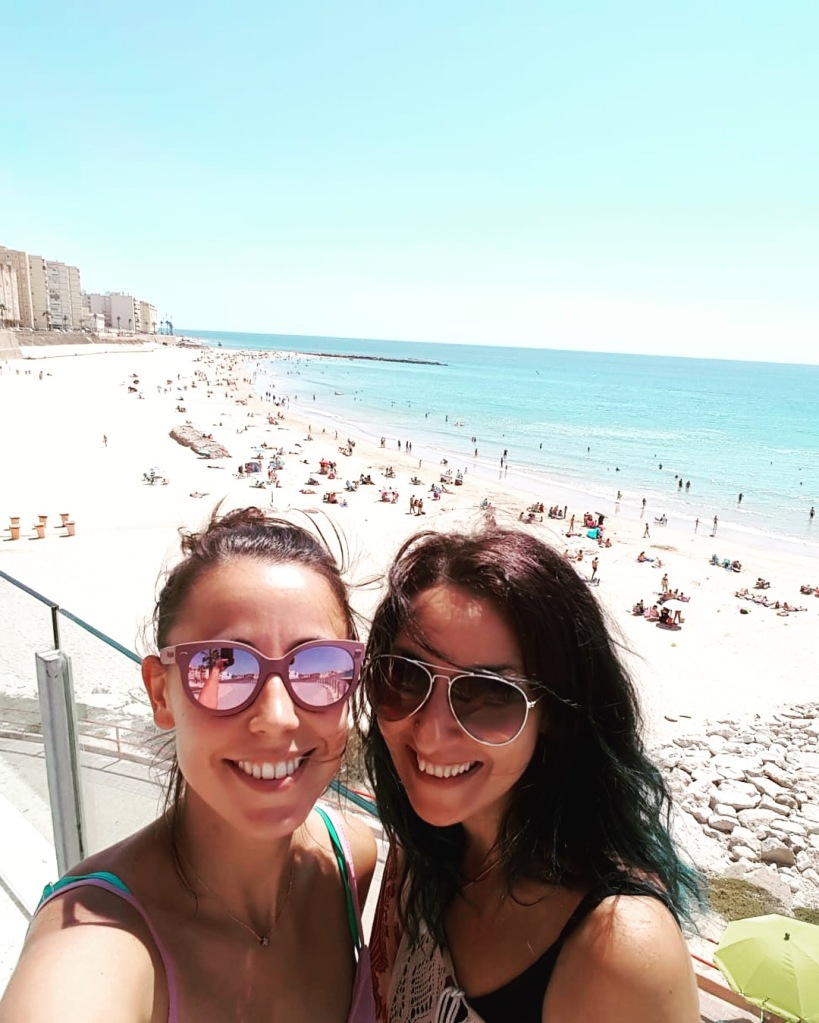 Brooke and I in Cadiz exploring beaches